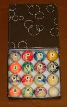 "NEW 2""(51mm) MARBELISED AMERICAN MARBLE POOL TABLE BALLS. MARBELIZED POOL BALLS"